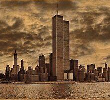 Downtown Manhattan, USA & WTC Towers, Circa 1979 by Chris Lord