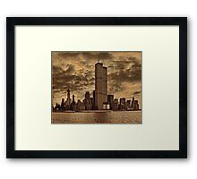 Downtown Manhattan, USA & WTC Towers, Circa 1979 Framed Print