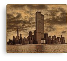 Downtown Manhattan, USA & WTC Towers, Circa 1979 Canvas Print
