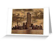 Downtown Manhattan, USA & WTC Towers, Circa 1979 Greeting Card