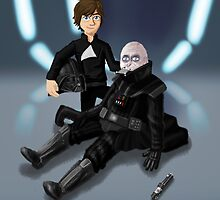 Father's Day - Luke and Vader by andymania