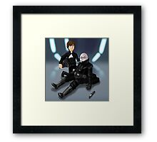 Father's Day - Luke and Vader Framed Print