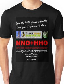 BlackGold SAVER Nitrous Oxyhydrogen (NNO+HHO) Unisex T-Shirt