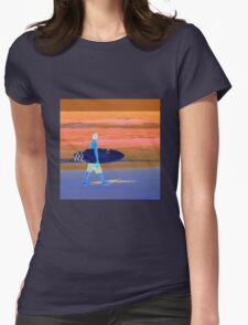 The Surfer Gold Coast Queensland  Womens Fitted T-Shirt