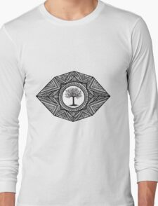 Black and White Landscape Long Sleeve T-Shirt
