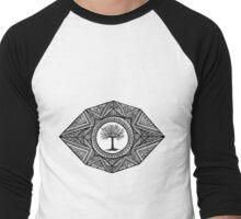 Black and White Landscape Men's Baseball ¾ T-Shirt