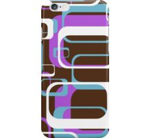 Retro 70's Wallpaper Pattern by Chillee Wilson iPhone Case/Skin