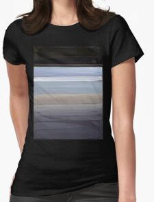 Painted Pompey Beach Womens Fitted T-Shirt