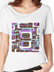 Retro 70's Wallpaper Pattern by Chillee Wilson Women's Relaxed Fit T-Shirt