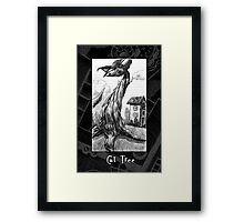 The Cat Tree Doodle page Framed Print