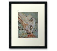 Blue Eyed Alpaca Framed Print