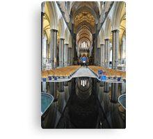 Salisbury Cathedral Interior Canvas Print