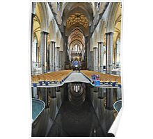 Salisbury Cathedral Interior Poster