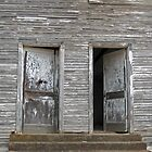 Twin Doors - Old Hopper Arkansas School by Richard Lawry