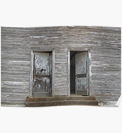 Twin Doors - Old Hopper Arkansas School Poster