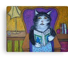 Teddys Scary Book Canvas Print