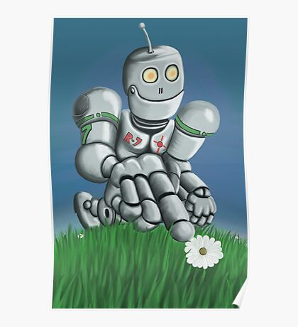 Daisy Picking Robot Poster