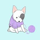French Bulldog in a Knitted Jumper by Katie Corrigan