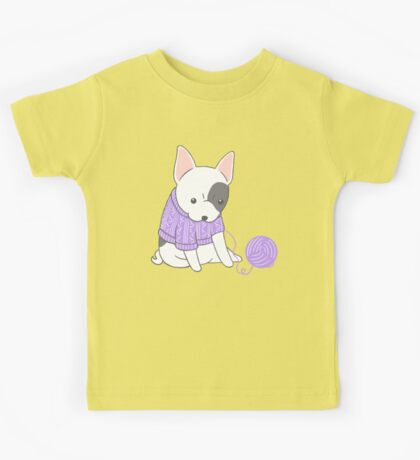French Bulldog in a Knitted Jumper Kids Tee