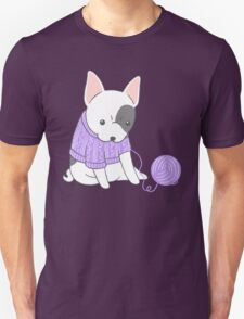 French Bulldog in a Knitted Jumper Unisex T-Shirt