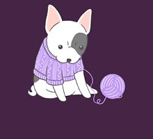French Bulldog in a Knitted Jumper Womens Fitted T-Shirt
