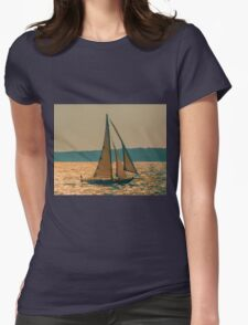 Morning Sail Womens Fitted T-Shirt