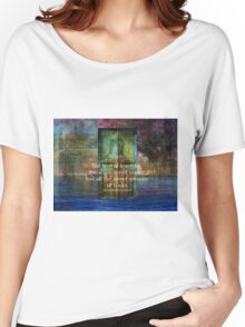 The love of learning, the sequestered nooks, And all the sweet serenity of books. Women's Relaxed Fit T-Shirt