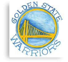 Golden State Warriors design Canvas Print