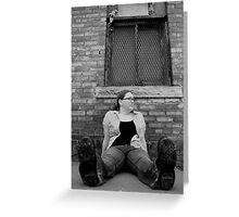 Brandi Sitting (B&W) Greeting Card