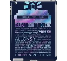10TH doctor QUOTES iPad Case/Skin