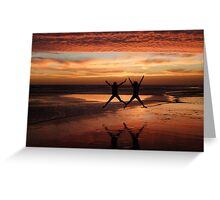 Two Stars for a Perfect Sunset Greeting Card