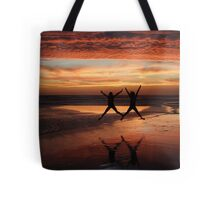 Two Stars for a Perfect Sunset Tote Bag