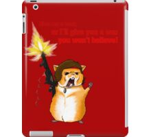 Hamster Rambo Text iPad Case/Skin