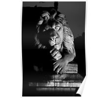 Lion Saltaire Black and White Poster