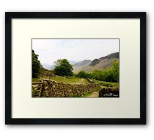 Into The Misty Solitudes. Framed Print