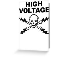 High Voltage Greeting Card