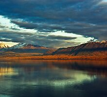 Cook Inlet and Chugach Mountains by Sally Winter