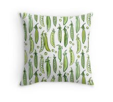 Watercolor Green pea Throw Pillow