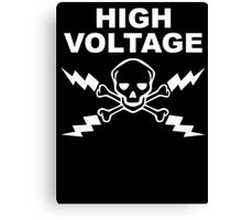 High Voltage - White Canvas Print