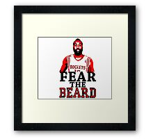 Fear the Beard Stencil Design Framed Print