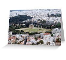 Temple of Olympian Zeus Athens, Greece  Greeting Card