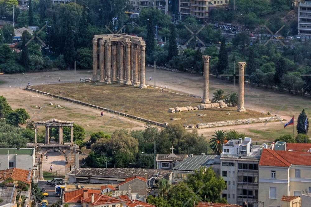 Temple of Olympian Zeus by Tom Gomez