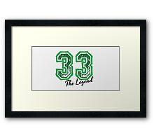 The Legend 33 design Framed Print