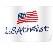 USAtheist - Proud American Atheist Poster