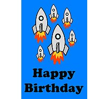 Exodus by Rocket Ships Happy Birthday Greeting Card by Chillee Wilson Photographic Print