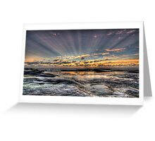 Days first rays Greeting Card
