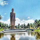 Giant Buddha in  Pereliya ,Sri Lanka . by Lilian Marshall
