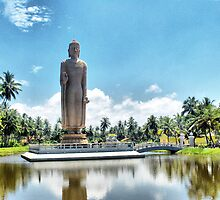 Giant Buddha in  Pereliya ,Sri Lanka . by Lilian Marshall