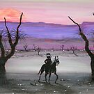 """Cautious Ned & Old Man Emu""  Original Australian Acrylic Painting SOLD by EJCairns"