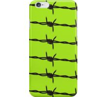 Barbed Wire by Chillee Wilson iPhone Case/Skin